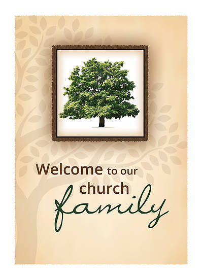 Picture of Welcome to Our Church Family Membership Certificate