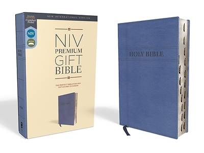 Picture of NIV, Premium Gift Bible, Leathersoft, Navy, Red Letter Edition, Indexed, Comfort Print