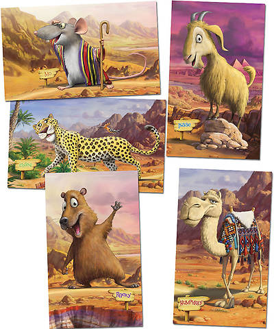 Group VBS 2014 Wilderness Escape Giant Bible Memory Buddy Posters Set of 5