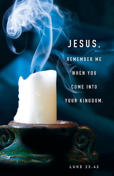 Picture of Jesus, Remember Me Tenebrae Bulletin (Pkg of 50)