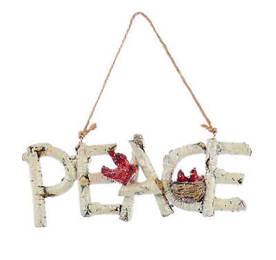 Picture of Birchwood Word Ornament - Peace