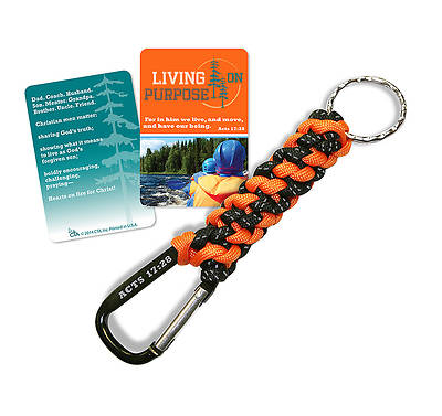 Paracord Keyring w/ Carabineer: Living on Purpose