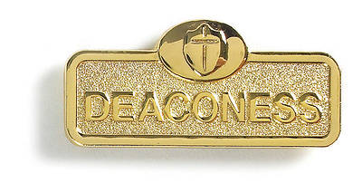 Picture of Brass Deaconess with Cross Leadership Badge