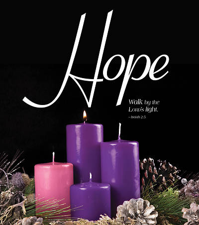 Picture of Hope Advent Candle Sunday 1 Bulletin, Large (Pkg of 50)