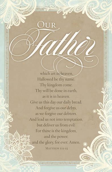 Picture of The Lords Prayer Matthew 6:9-13, KJV Regular Size Bulletin