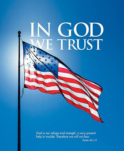 Picture of In God We Trust Patriotic Legal Size Bulletin