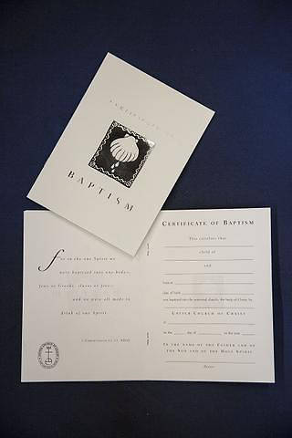 Picture of UCC Children's Baptism Certificate - Pack of 6