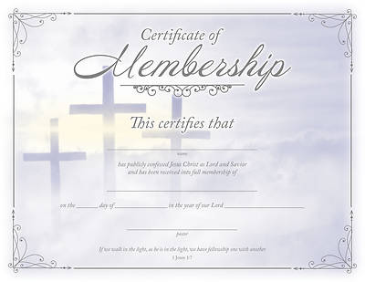 Picture of Certificate of Membership