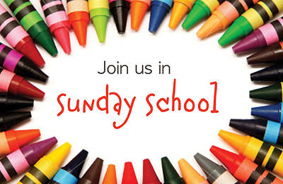 Picture of Join Us for Sunday School Crayons Postcard
