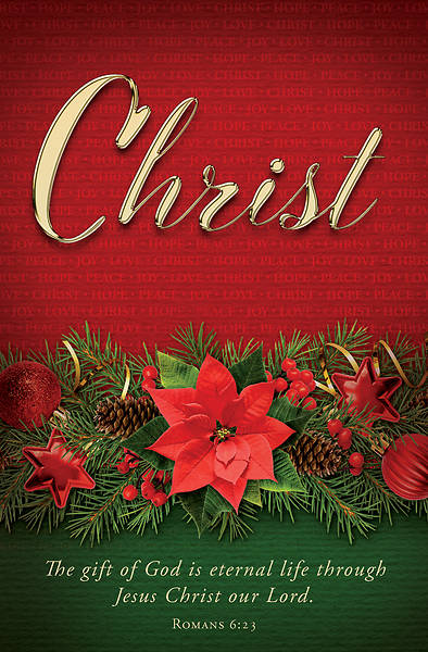 Picture of Christ Advent Poinsettia Regular Size Bulletin