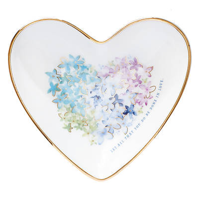 Picture of Violet Floral Heart Trinket Tray