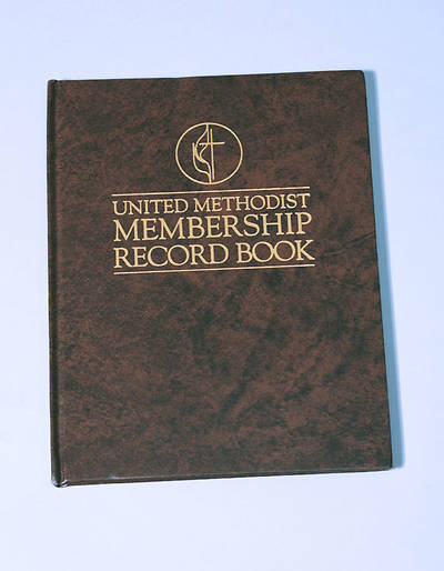 Picture of United Methodist Membership Record Book