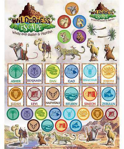 Group VBS 2014Wilderness Escape Sticker Sheet 10 Sheets