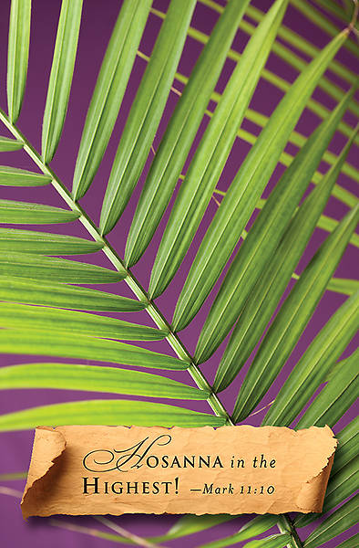 Hosanna Palm Sunday Bulletin 2014, Regular (Package of 50)