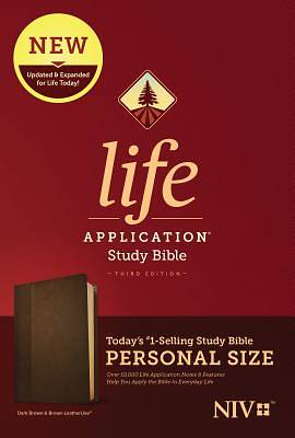 Picture of NIV Life Application Study Bible, Third Edition, Personal Size (Leatherlike, Dark Brown/Brown)