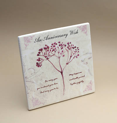 "An Anniversary Wish Ceramic Tile 7"" x 7"""