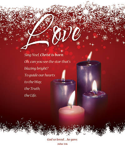 Advent Week 4 John 3:16 Bulletin Legal (Package of 100)