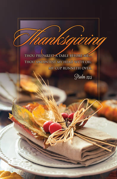 Picture of Thou Preparest a Table Thanksgiving Regular Size Bulletin