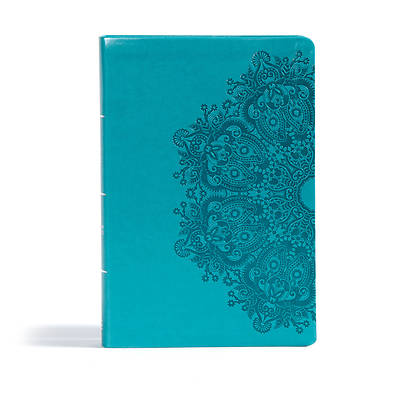 Picture of CSB Giant Print Reference Bible, Teal Leathertouch, Indexed