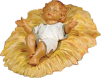 "Picture of Fontanini Nativity - 27"" Scale - 2 piece Infant & Manger Set"