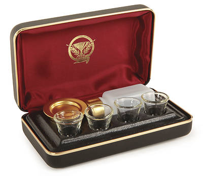 Four Cup Portable Communion Set