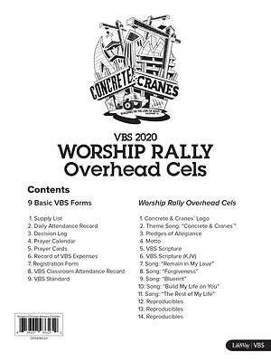 Picture of Vacation Bible School (VBS) 2020 Concrete and Cranes Worship Rally Overhead Cels