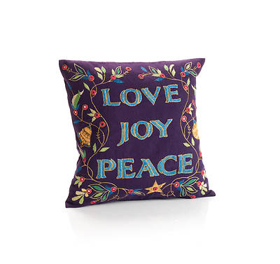 Picture of Love Joy Peace Pillow
