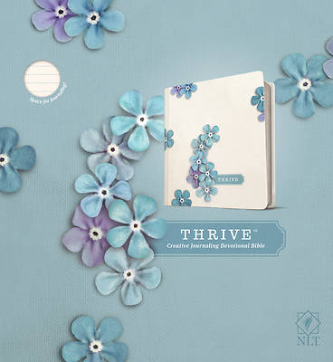 Picture of NLT Thrive Creative Journaling Devotional Bible (Hardcover, Blue Flowers)