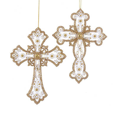 Gold and Silver Cross Ornament- Assortment