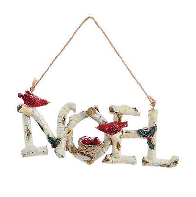 Picture of Birchwood Word Ornament - Noel