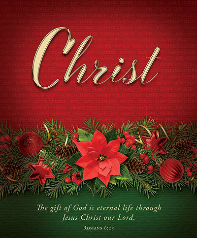 Picture of Christ Advent Poinsettia Legal Size Bulletin