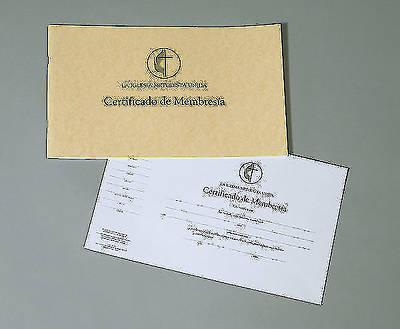 Picture of La Iglesia Metodista Unida Certificados de Membresía (paquete de 26)