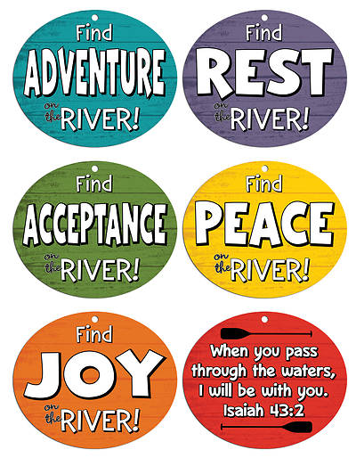 Vacation Bible School (VBS) 2018 Rolling River Rampage Rapid Reminder Mobiles (Pkg of 6)