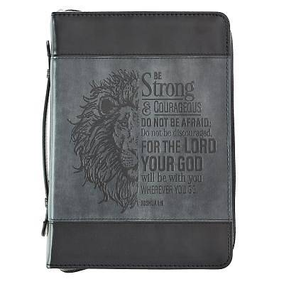 Picture of Bible Cover Medium Luxleather Joshua 1