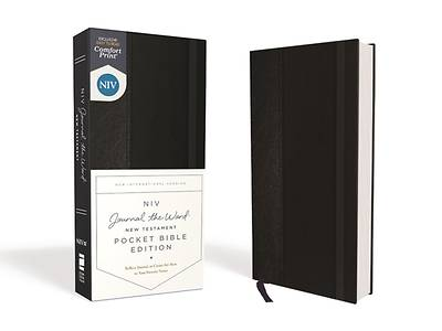 Picture of Niv, Journal the Word New Testament, Pocket Bible Edition, Hardcover, Black, Red Letter, Comfort Print