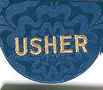 Blue Pocket Usher Badge - Package of 4