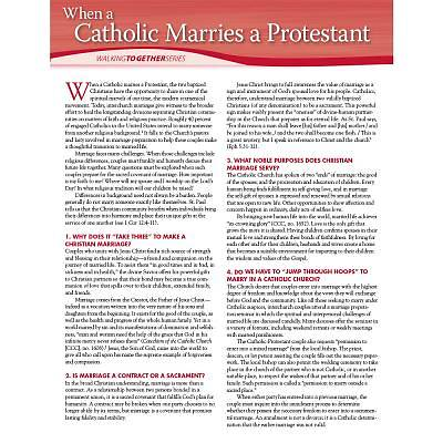 When a Catholic Marries a Protestant