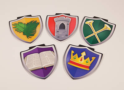 Vacation Bible School (VBS) 2017 Mighty Fortress Shield Décor Pack of 25