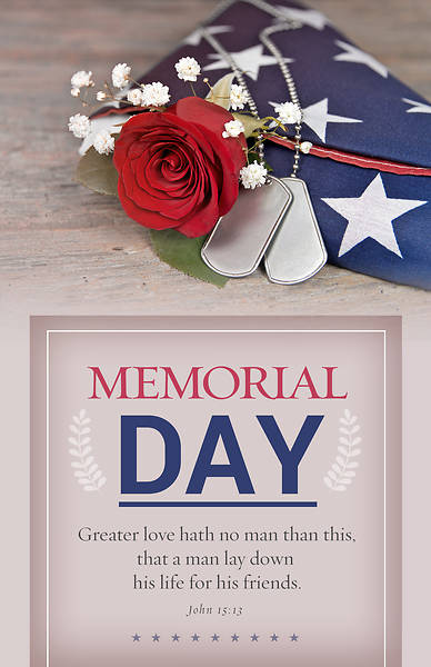 Picture of For His Friends Memorial Day Bulletin - Pack of 100