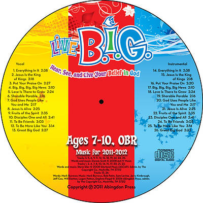 Picture of Live BIG Elementary Annual Music CD 2011-12