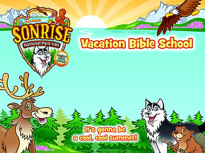 Gospel Light Vacation Bible School 2012 SonRise National Park Outside Banner