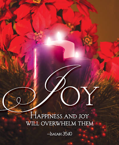 Picture of Joy Advent Candle Sunday 3 Bulletin, Large (Pkg of 50)