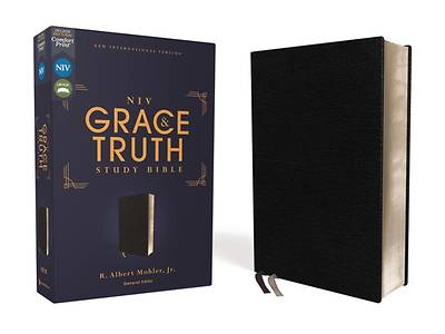 Picture of Niv, the Grace and Truth Study Bible, European Bonded Leather, Black, Red Letter, Comfort Print