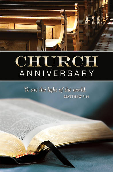Picture of Church Anniversary General Regular Size Bulletin