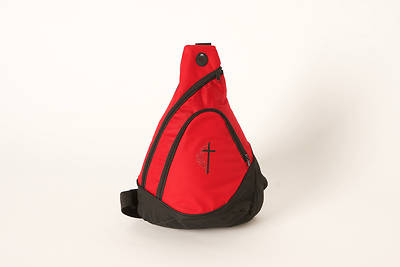 UMC Sling Backpack with Glitter Cross & Flame Emblem