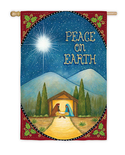 Peace on Earth Joy House Suede Flag