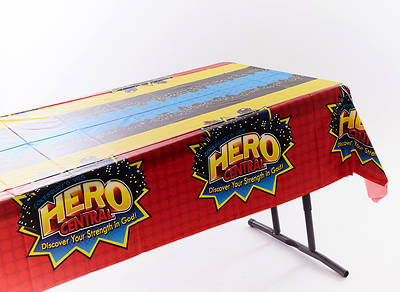 Vacation Bible School 2017 VBS Hero Central Tablecloth