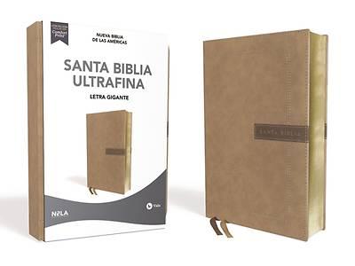 Picture of Nbla Santa Biblia Ultrafina, Letra Gigante, Leathersoft, Beige, Edición Letra Roja