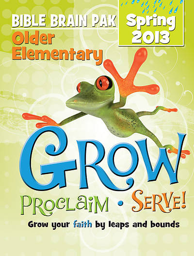 Picture of Grow, Proclaim, Serve! Older Elementary Bible Brain Pak Spring 2013