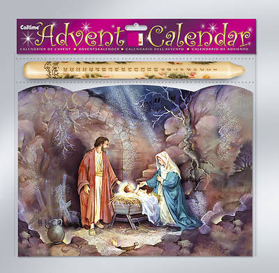 Holy Family Advent Calendar with Advent Candle